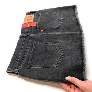 Women's Levi's Black denim miniskirt